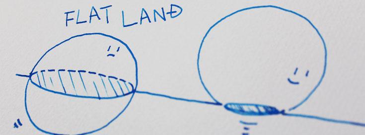 フラットランド:2次元世界から抜け出す方法。