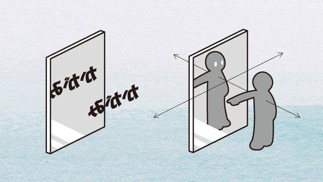 鏡の中の自分を観察する